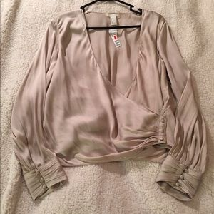 Silky champagne colored blouse